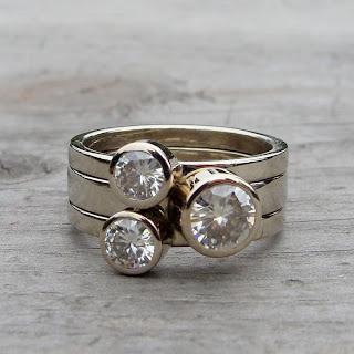 moissanite stacking rings