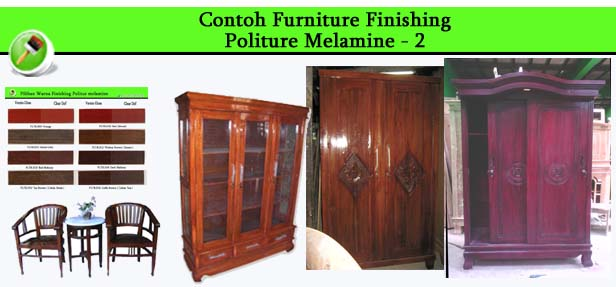 Contoh Furniture finishing Politure Melamine 2
