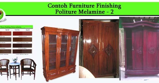 contoh furniture politur melamine 2 allia furniture