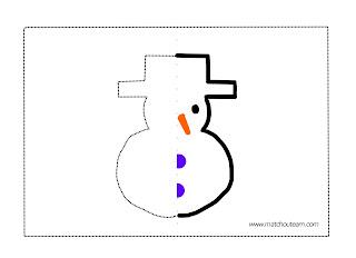 gabarit bonhomme de neige