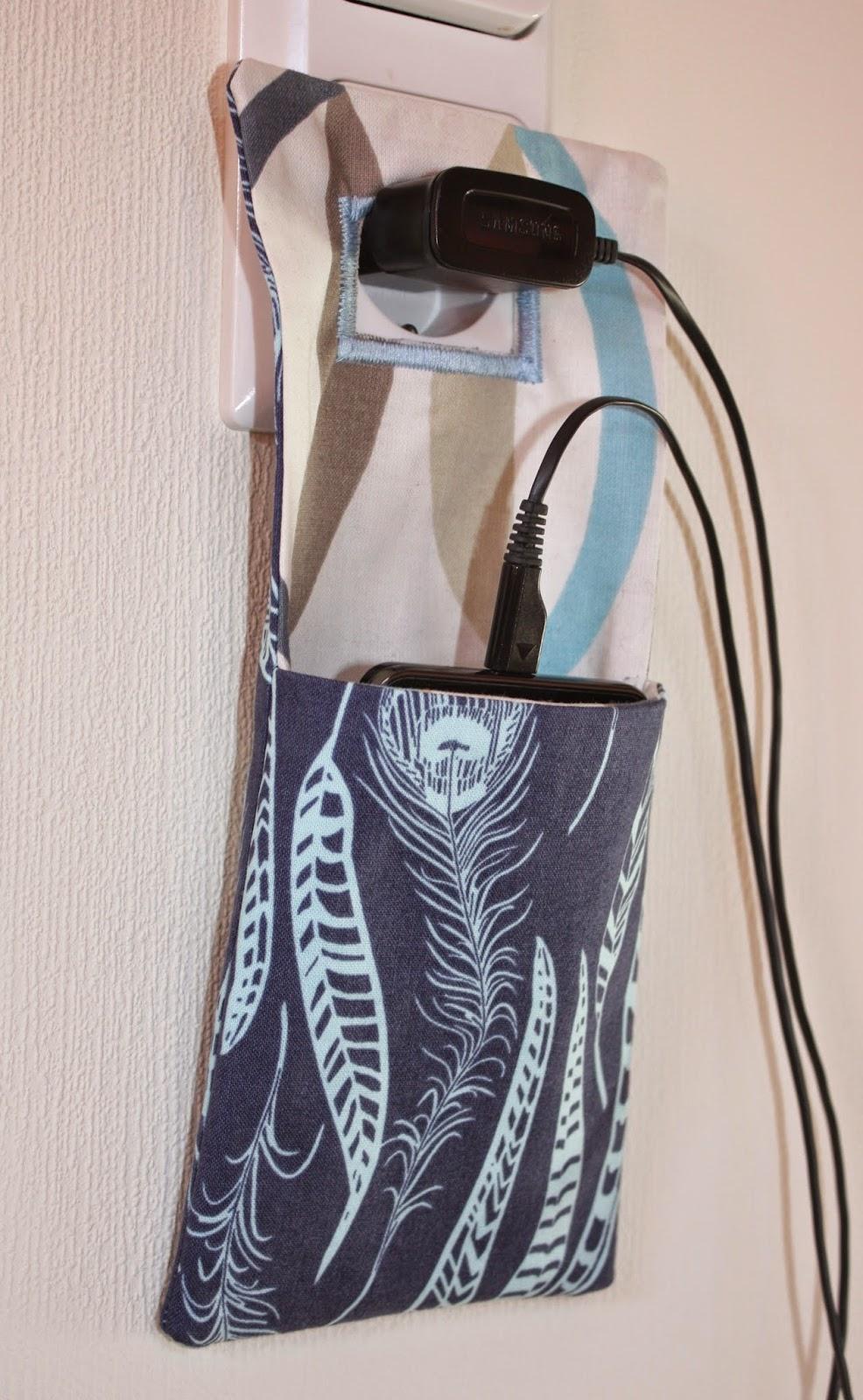Nähzone: Handyladetasche: Fotoanleitung und Schnittmuster