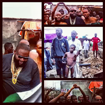 "[PICTURES] Rick Ross shoots ""Hold Me Back"" video in Obalende, Lagos"