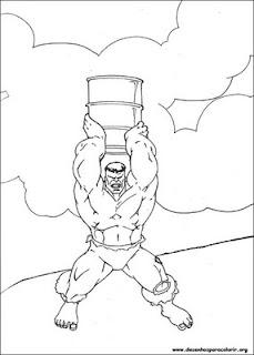 Desenhos do Hulk para imprimir