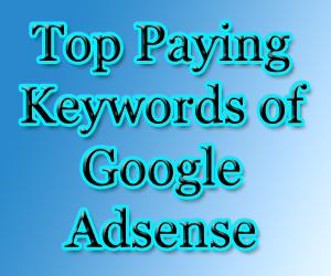 Top ,paying ,keywords of ,Google Adsense