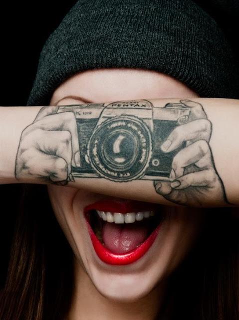 Tatuaje camara pentax 35mm