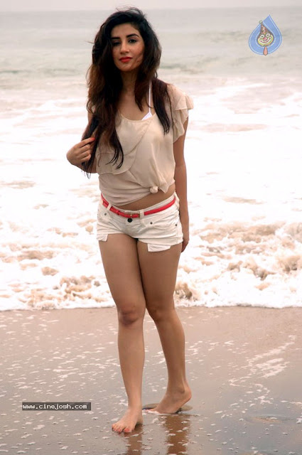 Parul Gulati tiny shorts beach Latest hot