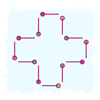 12 pins maths puzzle by Gifted Mathematics .com