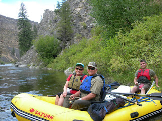 Picture of Marlene rafting on the Boise river with her family