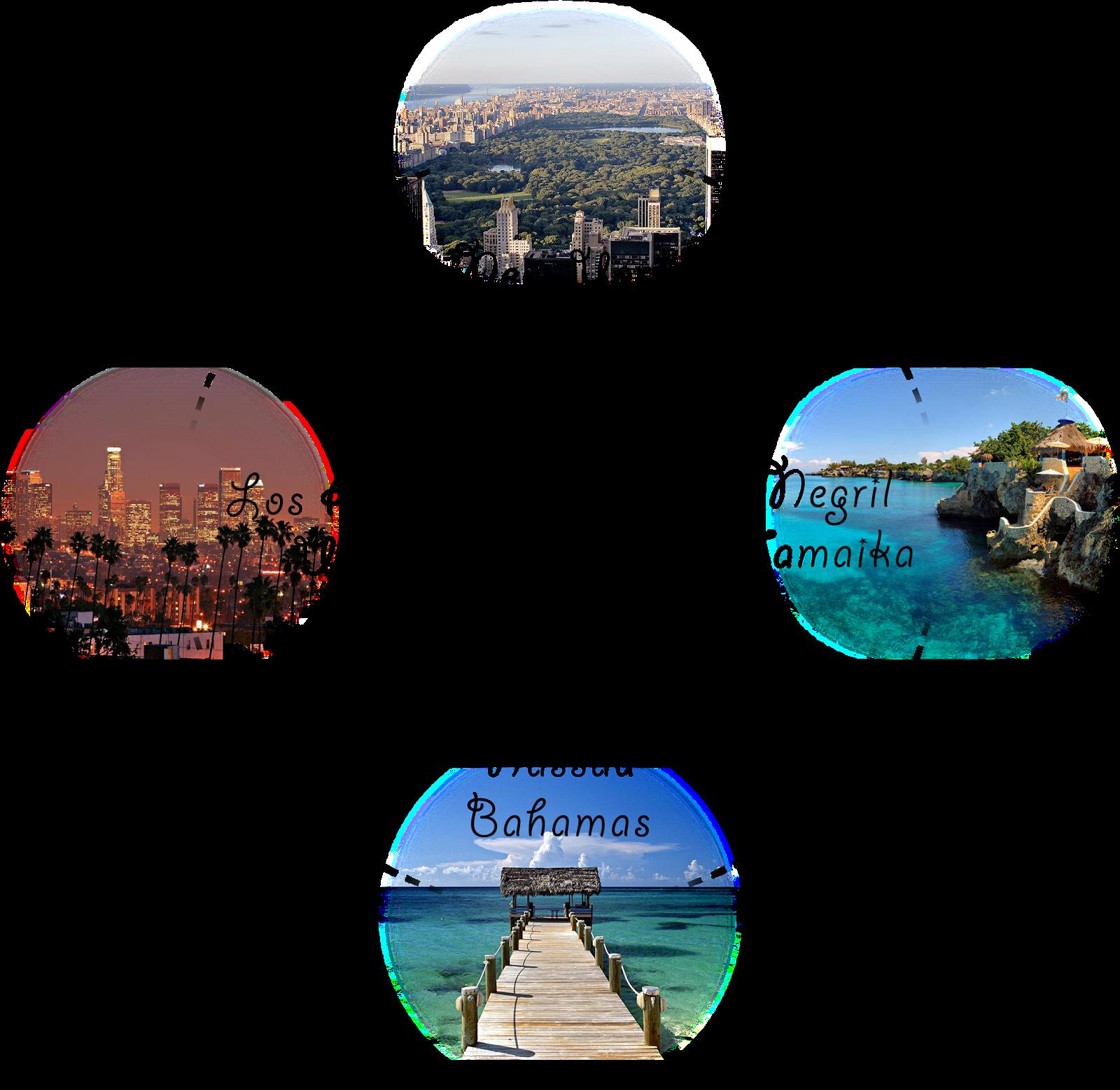 Route der Rundreise von New York bis Los Angeles