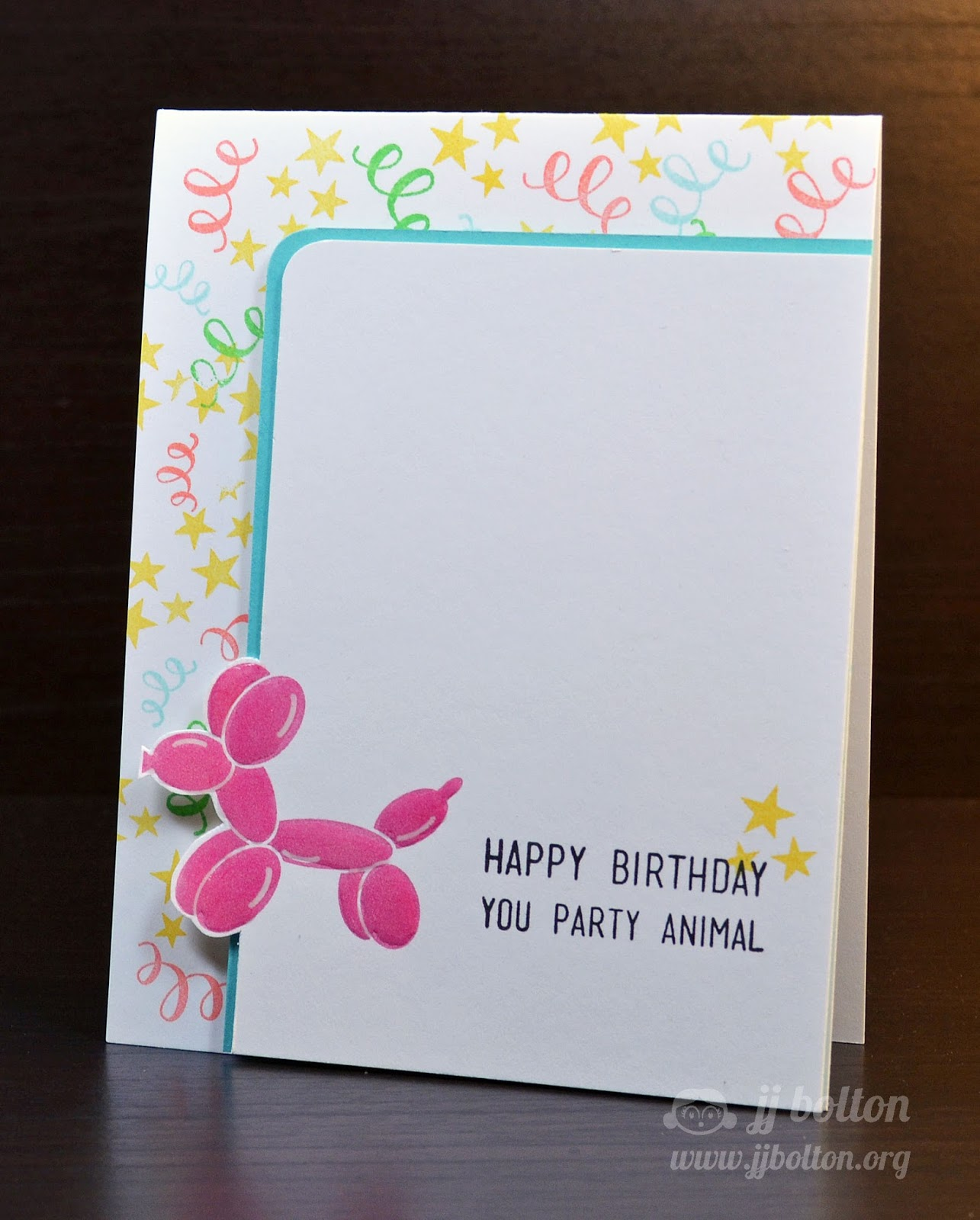 Jj bolton handmade cards avery elle junejuly stamp highlight you can see that i covered the balloon animal in glossy accents just for a bit of dimension got that trick from nina just a fun birthday card m4hsunfo