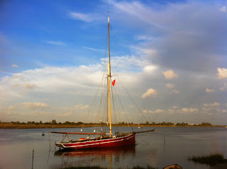Boat off West Mersea, Essex