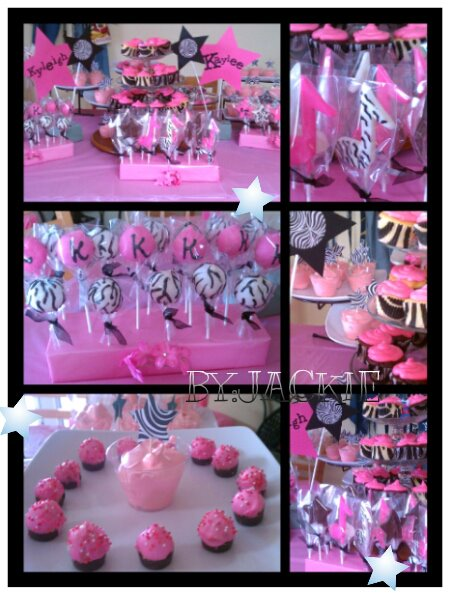 Creations 4 You By Jackie Zebra Print Pink RockStar Party