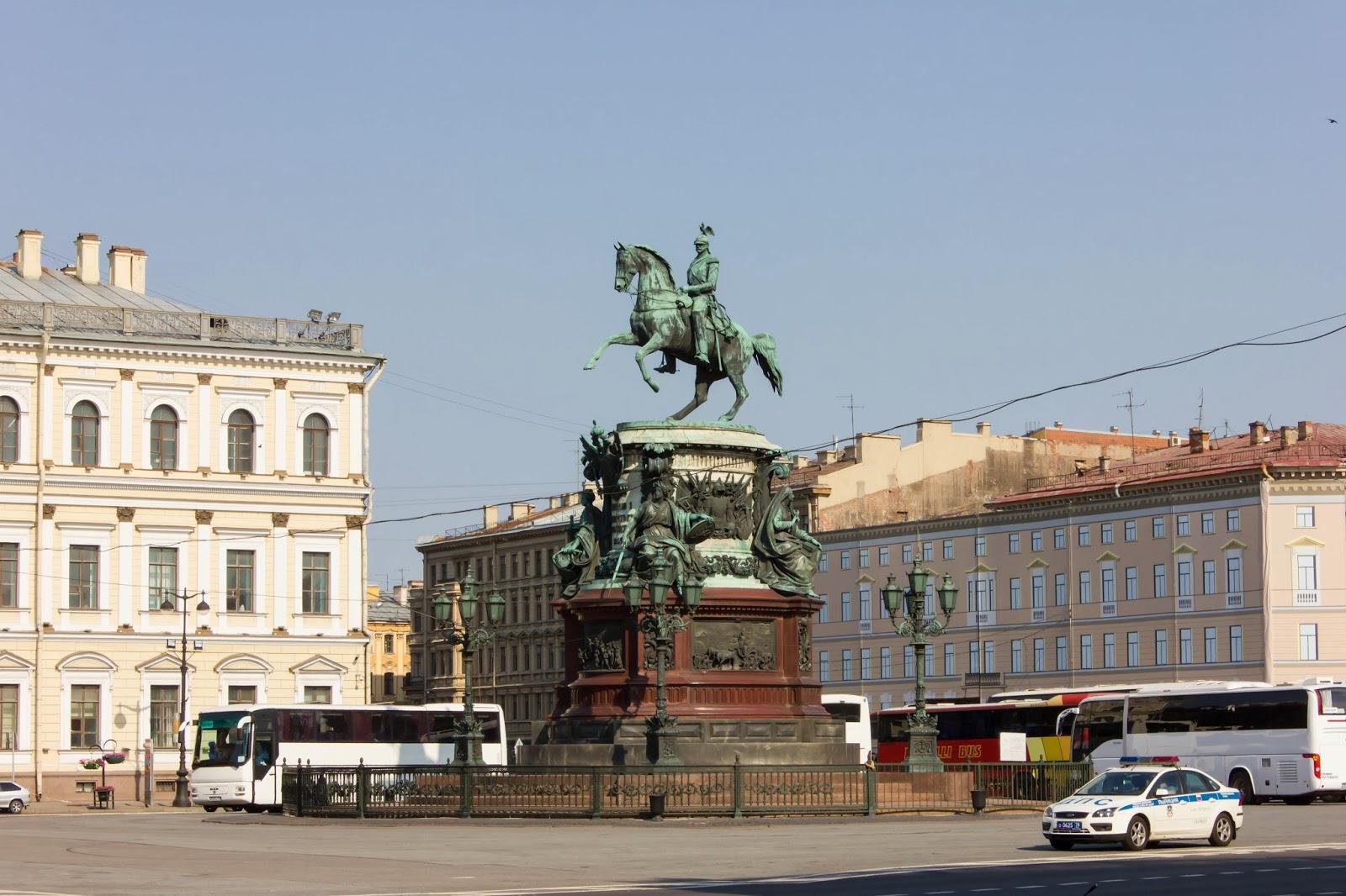 Санкт-Петербург, Россия, Памятник императору Николаю I