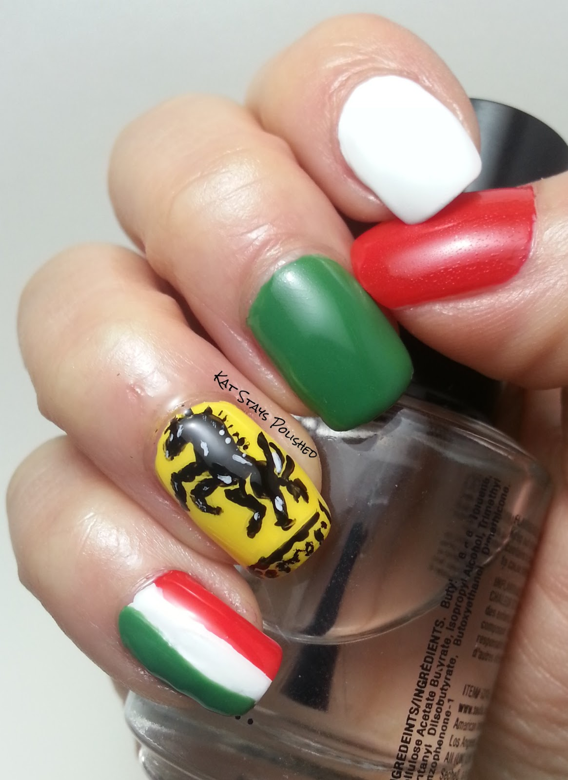 Kat Stays Polished | Beauty Blog with a Dash of Life: Ferrari Nail ...