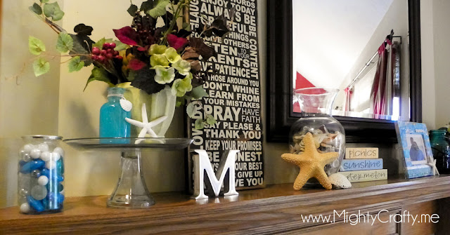 Summer Mantel by MightyCrafty.me