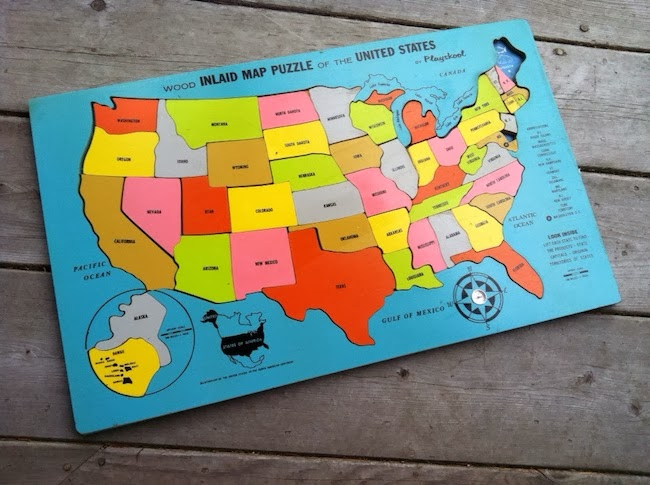 A Lovely Lark Wooden Puzzle Maps