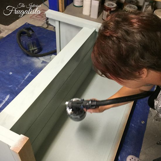 Applying chalk paint using a HomeRight paint sprayer