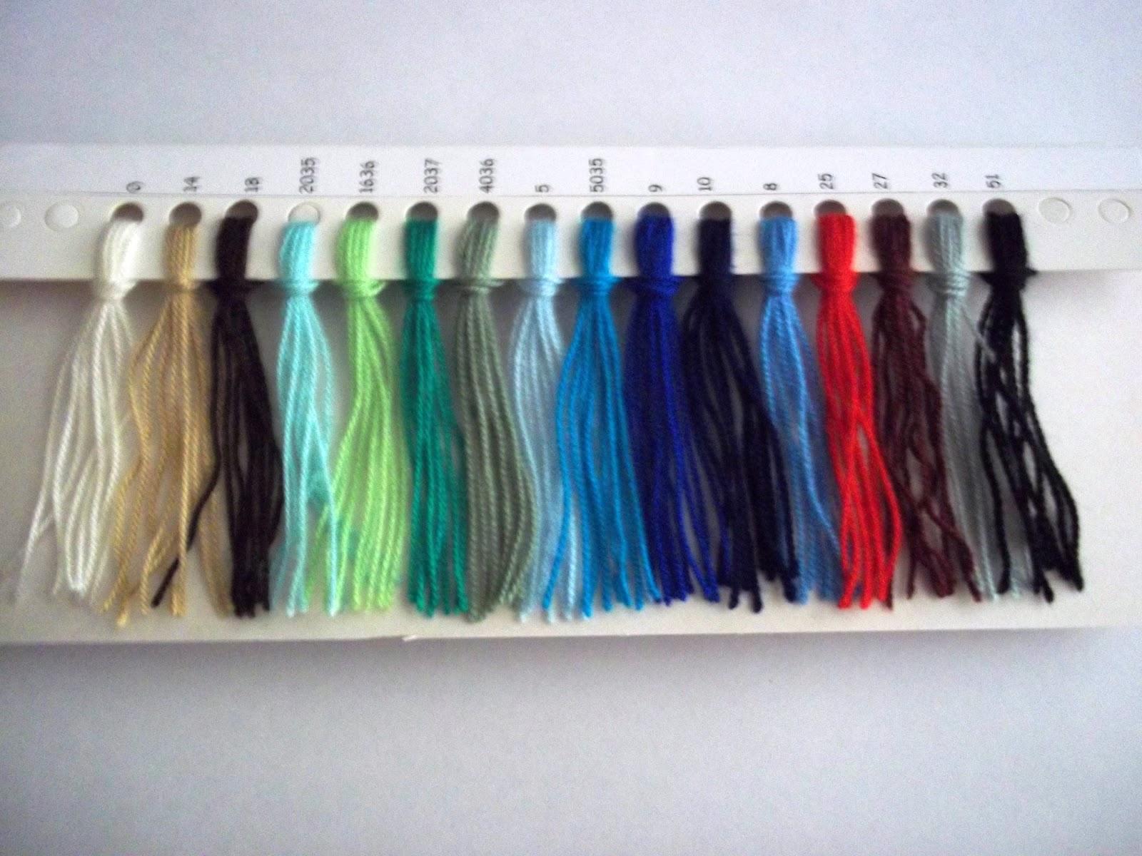 Tejidos artesanales con bordados carysol materiales for Cartilla de colores