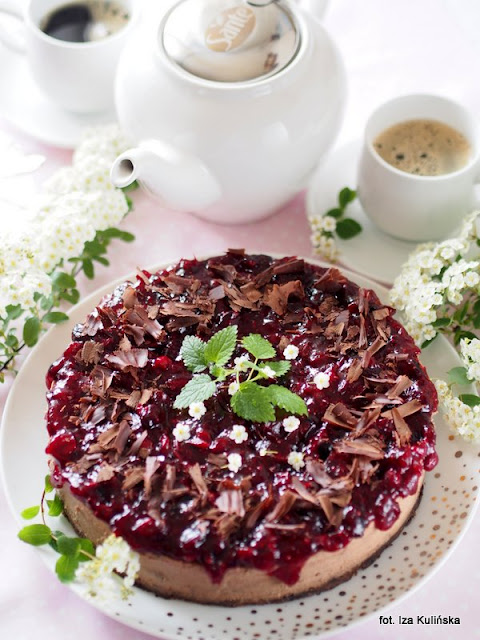 sernik-ciasto-deser-czekolada-ksylitol-żurawina