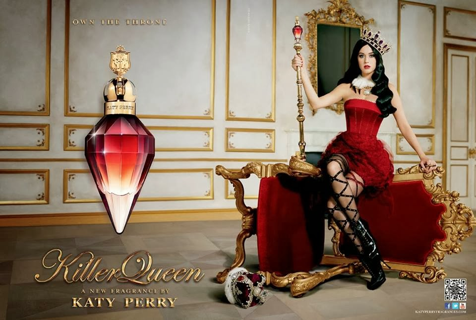Ad Photoshoot : Katy Perry Photoshot For Killer Queen Fragrance 2014 Issue