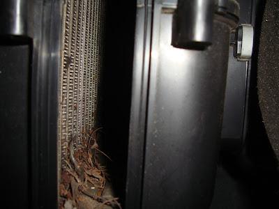 Radiador interior aire acondicionado sucio