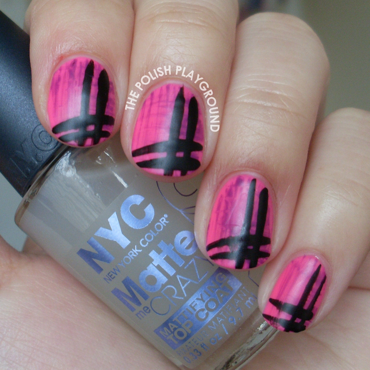Contrasting Stripey Nails Nail Art