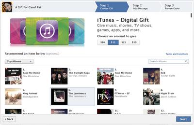 iTunes Gift Card Di Facebook