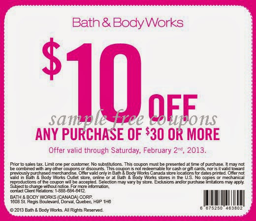 Bath and body works in store coupon code