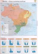 Mapa Brasil de Clima com correntes marítimas e climogramas (mapa brasil de clima com correntes marãtimas climogramas)