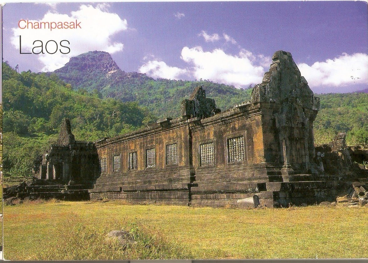 My UNESCO World Heritage Postcards Laos Vat Phou And Associated