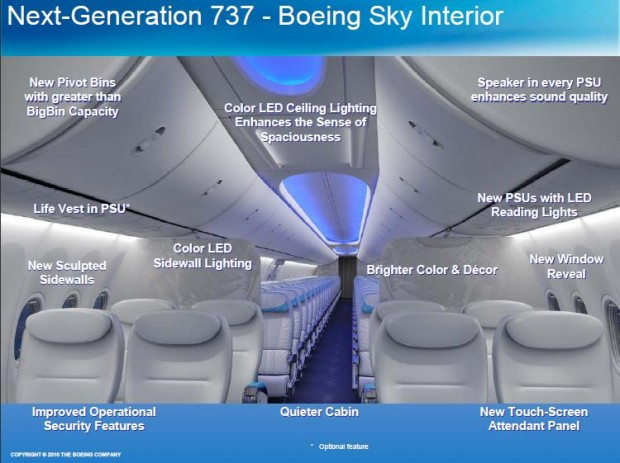 Boeing 737NG Sky Interior (Photo By: Boeing)