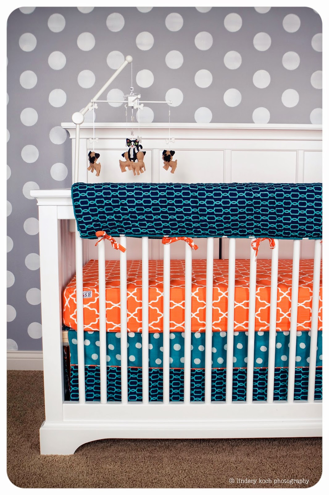 Our styled suburban life two little fish nursery bedding for Fishing nursery bedding
