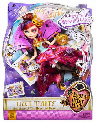 JUGUETES - Ever After High : Way Too Wonderland   Lizzie Hearts | Muñeca - Doll  Toys | Producto Oficial 2015 | Mattel | A partir de 6 años