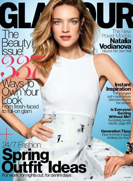 Model @ Natalia Vodianova by Patrick Demarchelier for Glamour US, April 2015