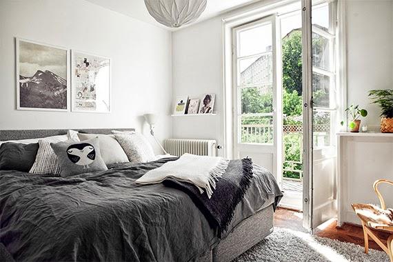 apartamento com planta - pequenos espaços - ideia de decoração - quarto iluminado
