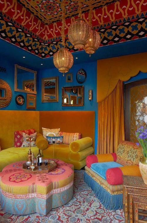 Baños Estilo Marroqui:El encanto de una sala estilo marroquí radica en los patrones