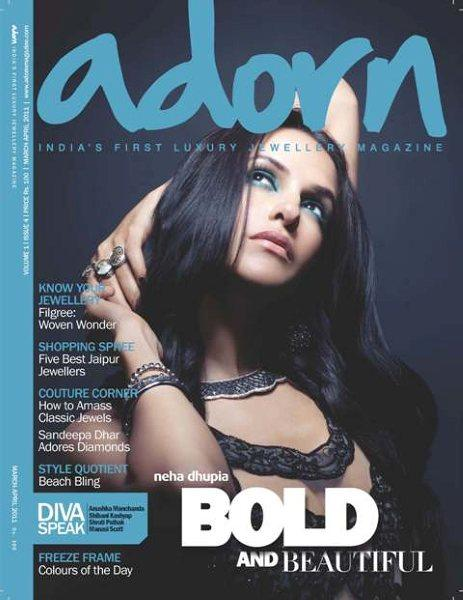 Neha Dhupia On Adorn Magazine Cover March 2011