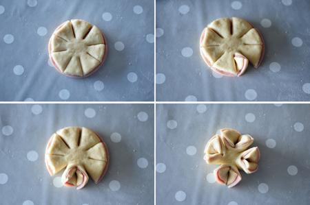 Как из теста сделать розочку на пирог с 36