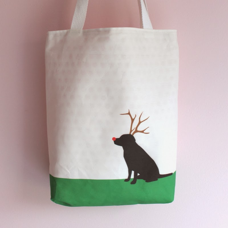 Purchase the Doggy Reindeer Tote!