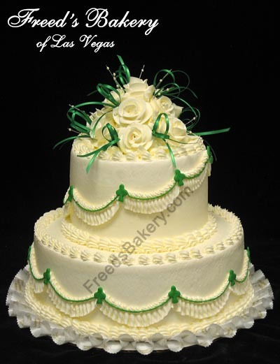Two Tier Celtic Wedding Cake by Freeds Bakery 9815 S Eastern Ave