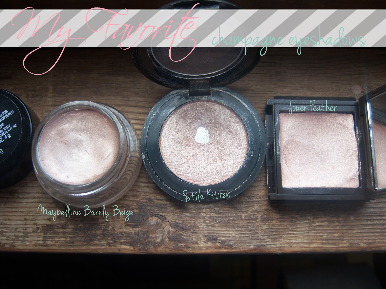 Mind Body Beauty Favorite Champagne Eyeshadows