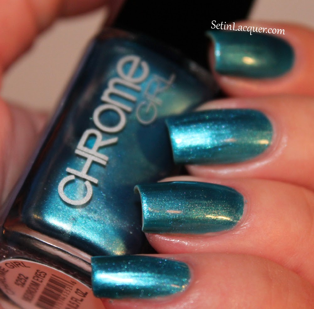 chrome girl swatches and review set in lacquer