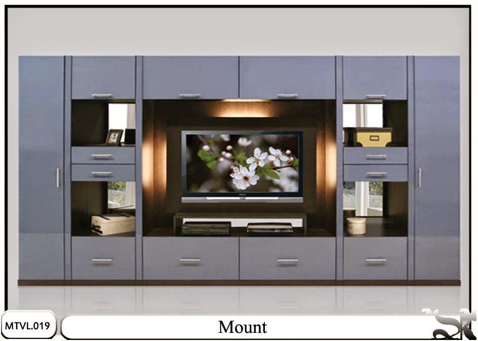 Lemari tv lcd desain minimalis Mount