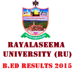 Rayalaseema University RU B.Ed Results 2015