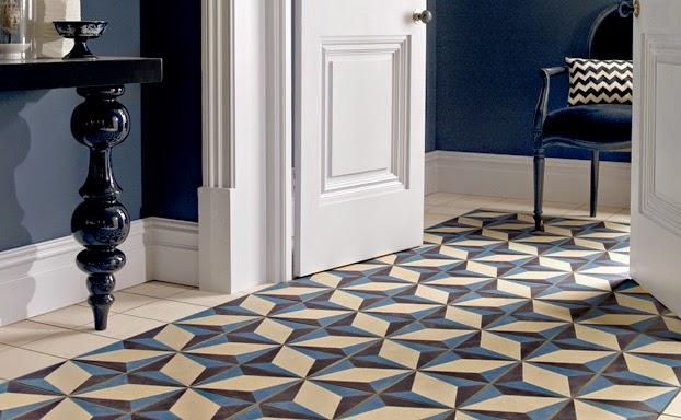 Rosa beltran design inspired by cement encaustic tile - Cuisine bleu marine ...