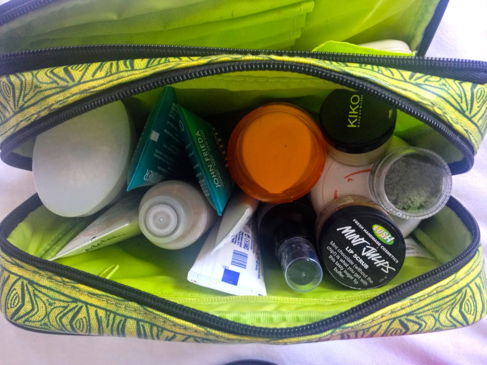 a picture of What's in my wash bag