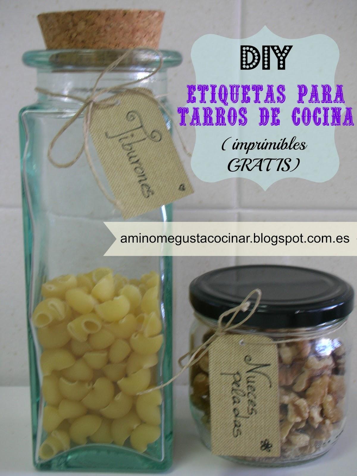 DIY: etiquetas para tarros de cocina (¡con imprimible gratis!)