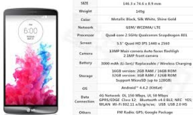 Smartphone LG G3 Specs