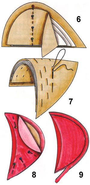 Как пришить подплечники к изделию. Самостоятельное изготовление подплечника
