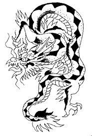 Motif Tato Naga Hitam Putih 10